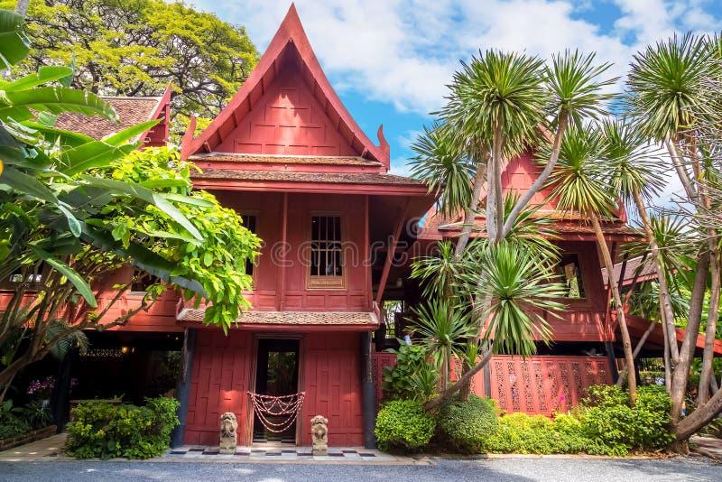吉姆汤普森博物馆在曼谷,泰国 免版税图库摄影