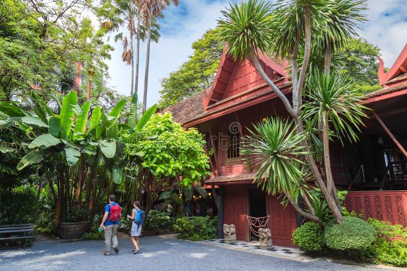 吉姆汤普森博物馆在曼谷,泰国 库存照片