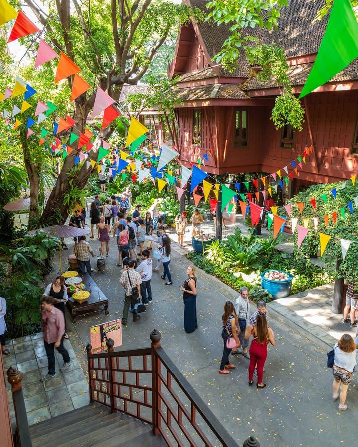 吉姆汤普森博物馆在曼谷,泰国 免版税库存图片