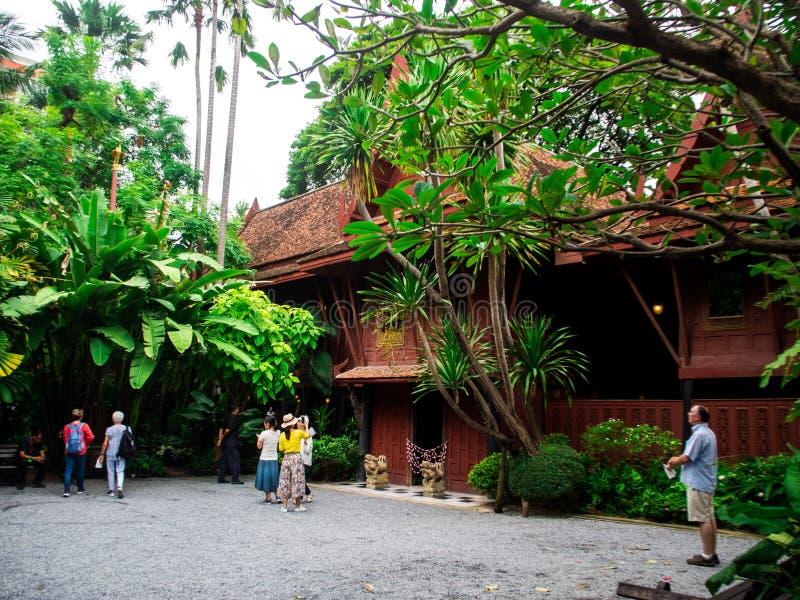 吉姆汤普森议院是一个博物馆在曼谷,泰国, 10月9日 免版税库存图片