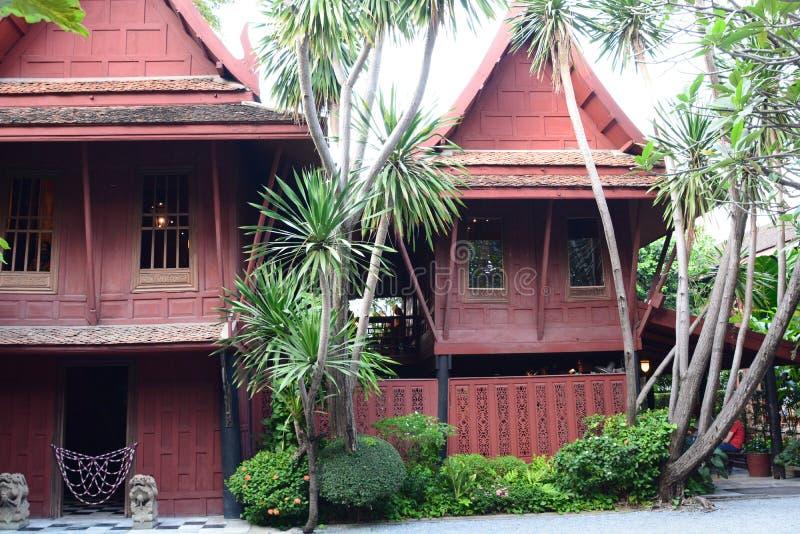 吉姆汤普森议院 曼谷 泰国 免版税库存图片