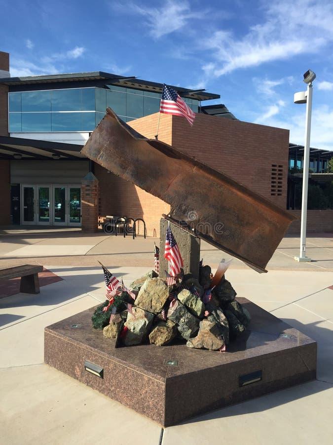 吉尔伯特镇9/11纪念品在吉尔伯特AZ 免版税图库摄影