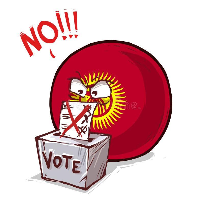 吉尔吉斯斯坦投反对票国家的球 皇族释放例证