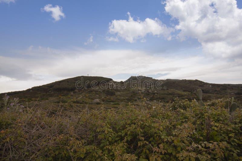 吉廖岛海岛cala delle Caldane格罗塞托意大利 库存图片