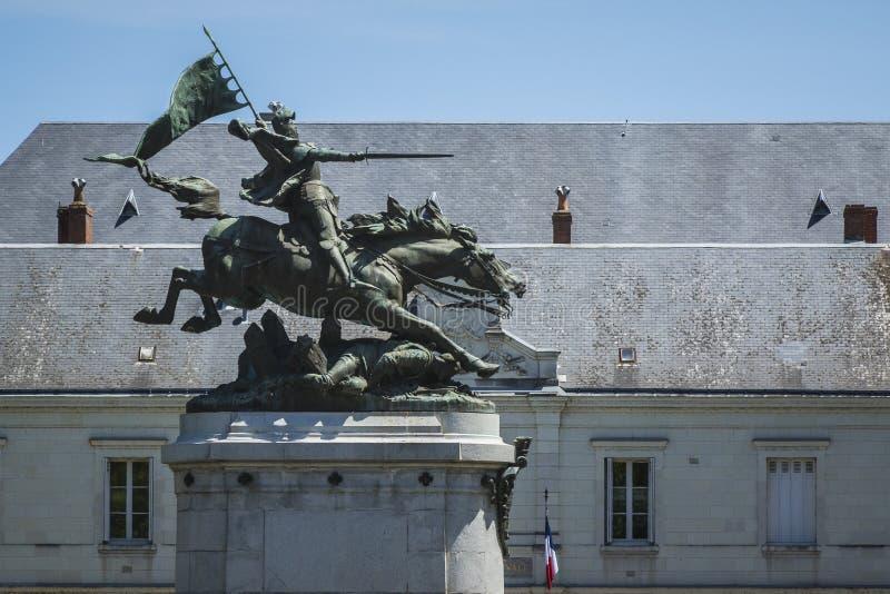 吉恩D'Arc纪念碑 库存照片