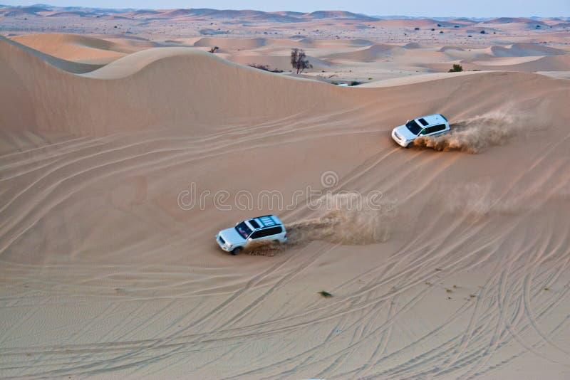 吉普徒步旅行队丰田在迪拜 库存图片