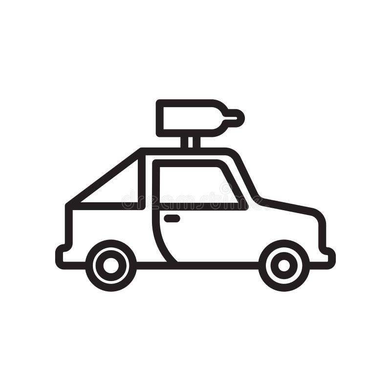 吉普象在白色背景和标志隔绝的传染媒介标志,吉普商标概念,概述标志,线性标志 向量例证