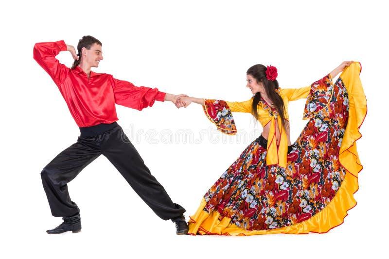 吉普赛佛拉明柯舞曲舞蹈家夫妇 图库摄影