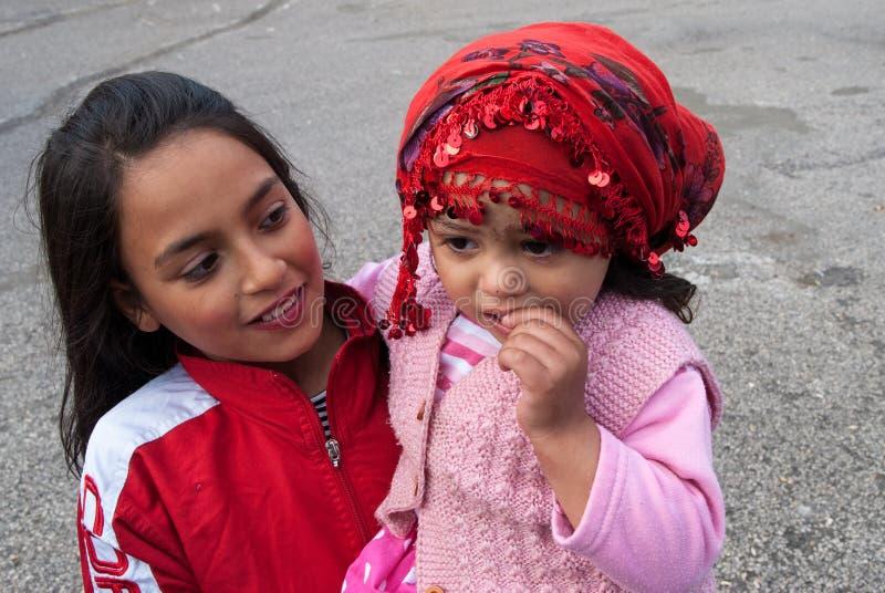 吉普赛女孩在土耳其 库存照片