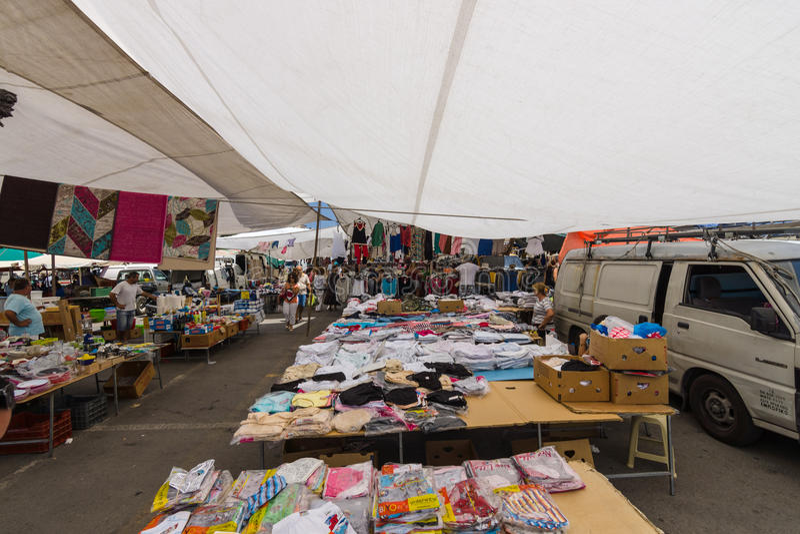 吉普赛市场 图库摄影