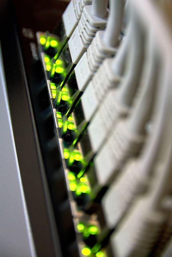 吉比特以太网连接 库存图片