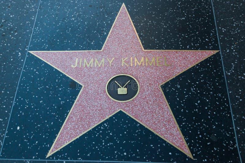 吉米Kimmel好莱坞明星 库存照片