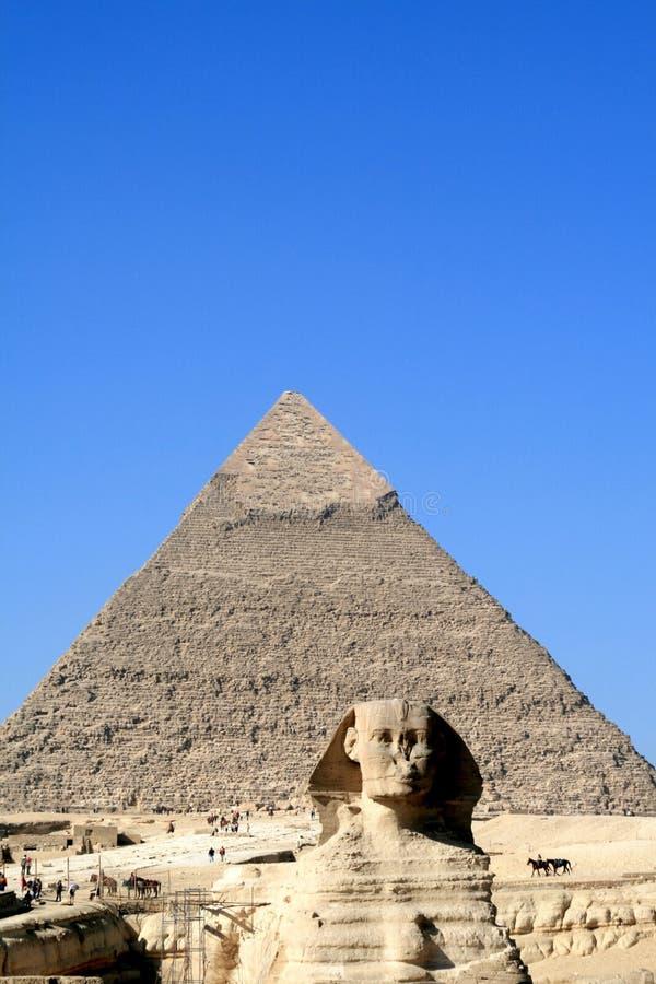 吉萨棉狮身人面象在埃及 库存图片