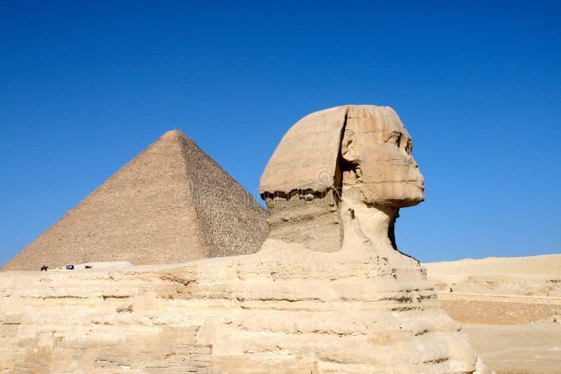 吉萨棉狮身人面象在埃及 免版税库存照片