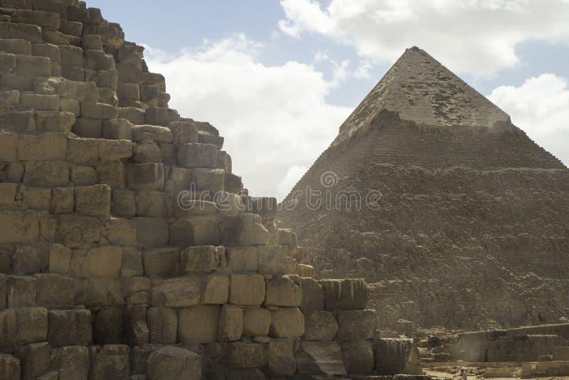 吉萨棉金字塔 埃及 免版税库存照片