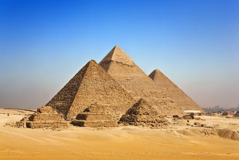 吉萨棉金字塔 免版税库存照片
