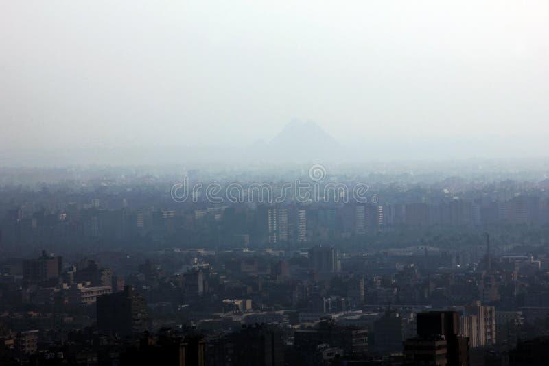 吉萨棉金字塔 免版税库存图片