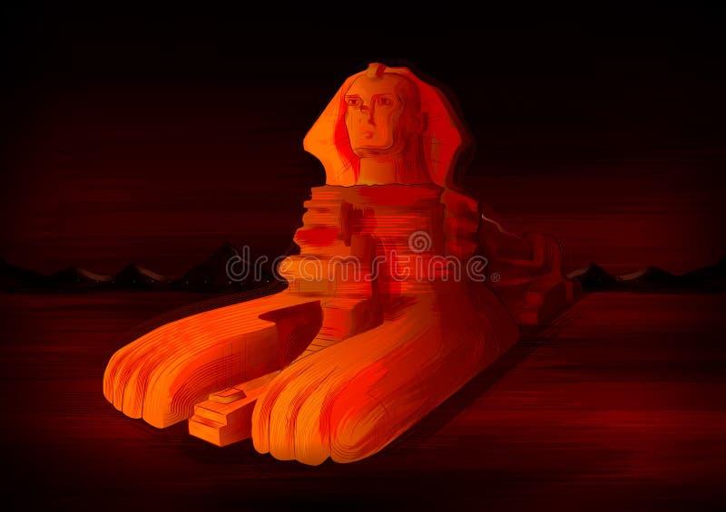 吉萨棉,埃及的伟大的狮身人面象举世闻名的历史纪念碑 皇族释放例证