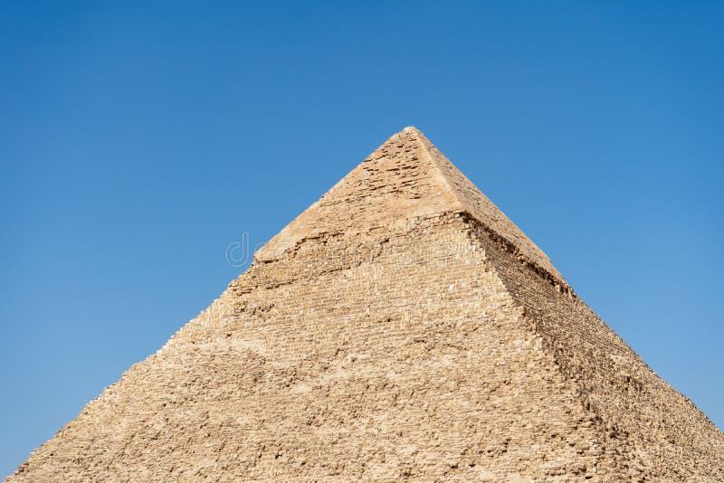 吉萨金字塔,修造为第四朝代埃及人 免版税库存图片