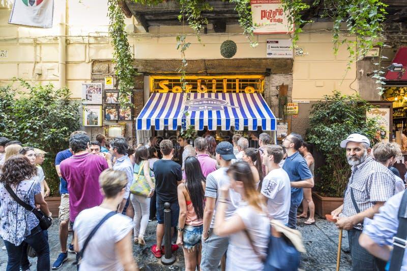 吉诺Sorbillo比萨店,那不勒斯,意大利 库存照片