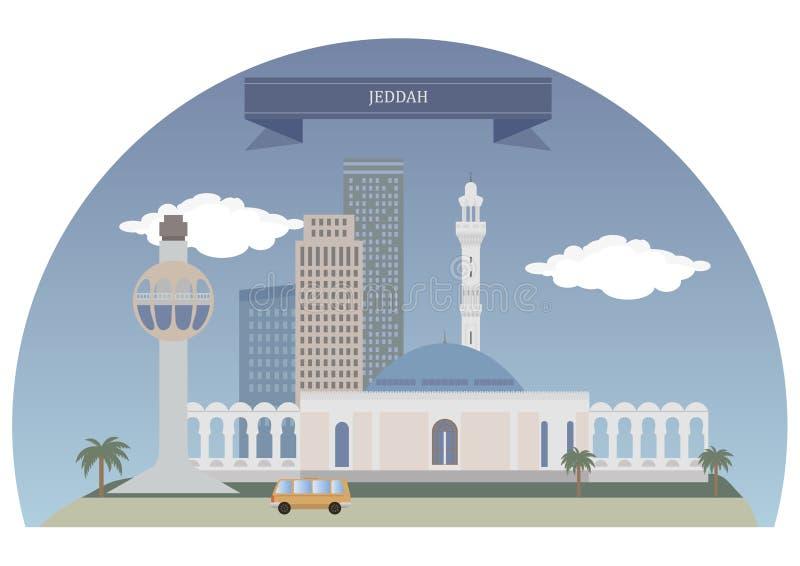 吉达,沙特阿拉伯 皇族释放例证
