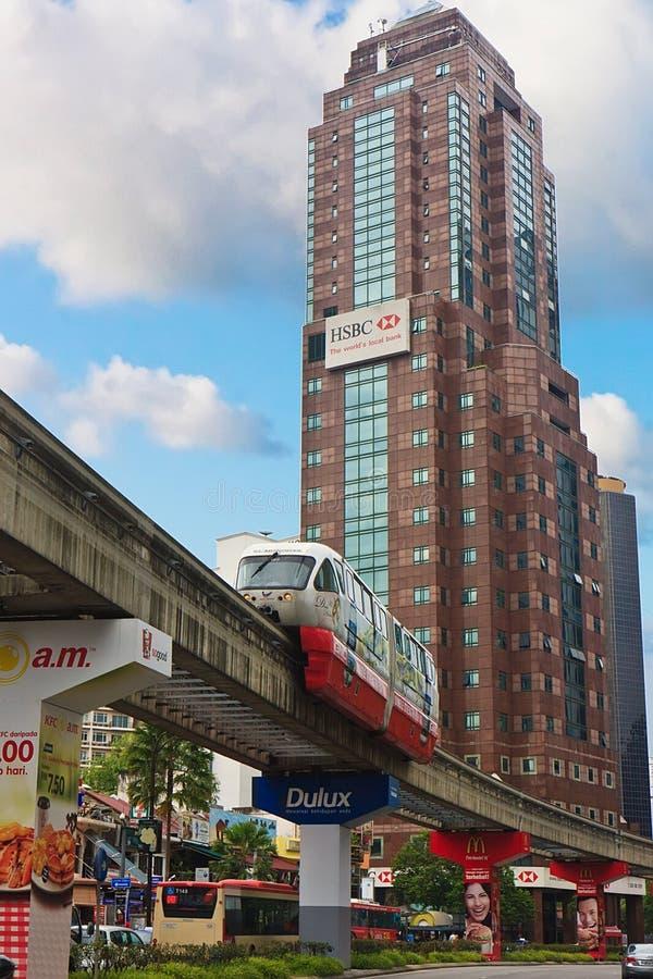 吉隆坡单轨 免版税库存图片