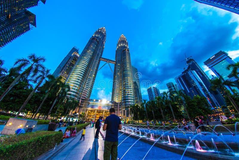 吉隆坡双子塔 免版税库存照片