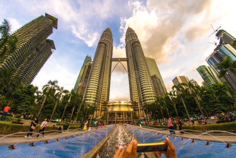 吉隆坡双子塔 库存照片