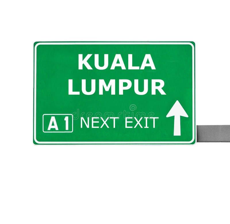 吉隆坡在白色隔绝的路标 免版税库存照片