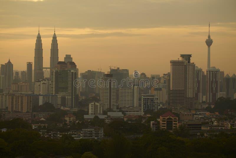 吉隆坡地平线日出  图库摄影