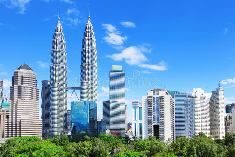吉隆坡地平线 免版税图库摄影