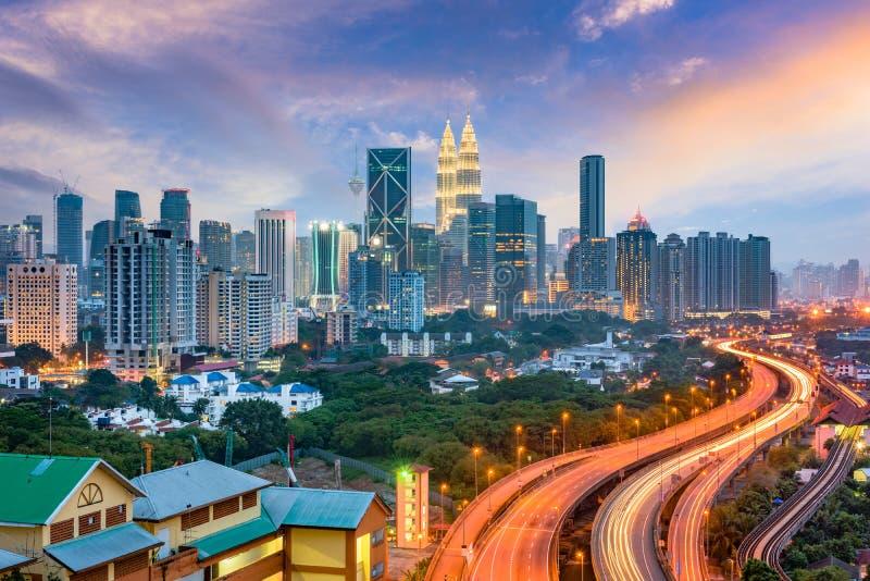 吉隆坡地平线 免版税库存照片