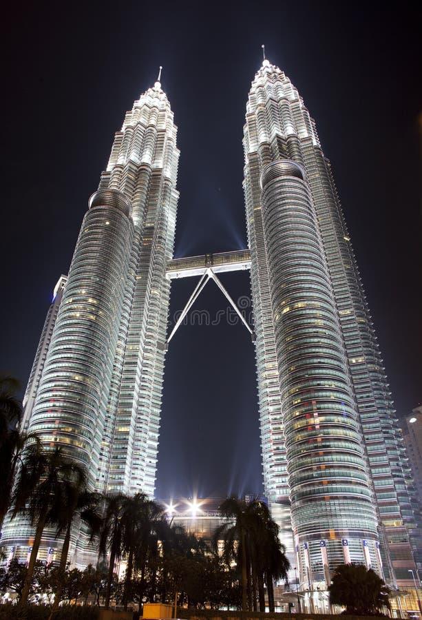 吉隆坡天然碱塔孪生 库存照片