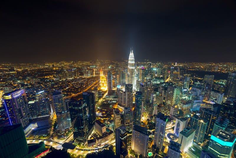 吉隆坡天线Nightscape 库存图片