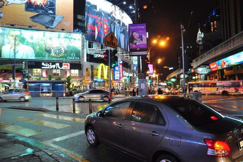 吉隆坡晚上 免版税库存照片