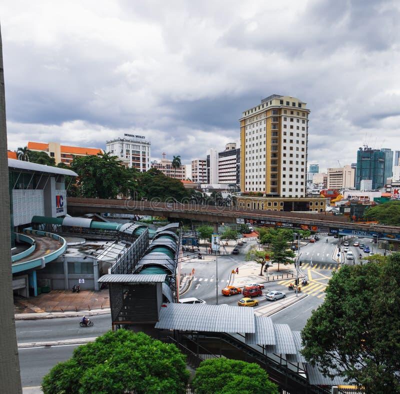 吉隆坡,马来西亚全景  库存照片