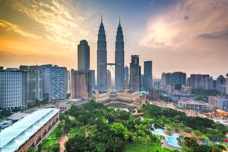 吉隆坡,马来西亚公园和地平线 库存图片
