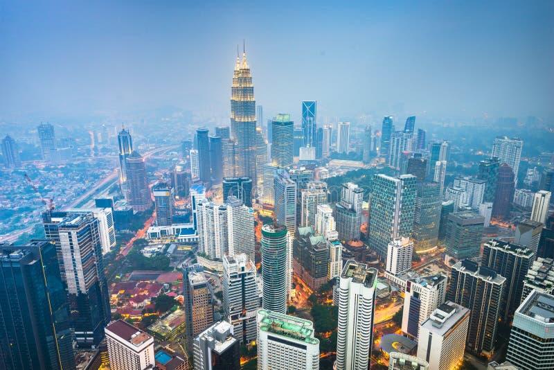 吉隆坡,马来西亚市地平线 库存图片