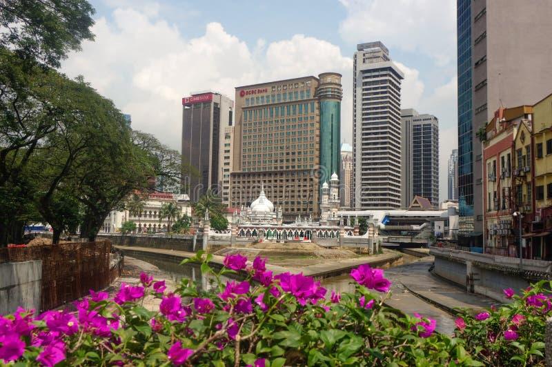 吉隆坡,马来西亚- 2016年1月16日:历史的清真寺Masjid Jamek,它在1909年和其中一个最旧的清真寺中被修造了 库存图片