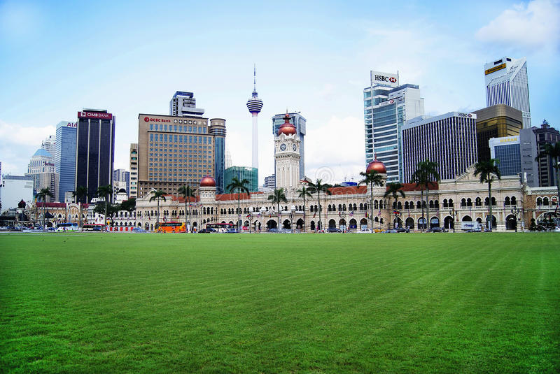 吉隆坡,马来西亚- 2014年12月10日:城市风景 免版税库存图片