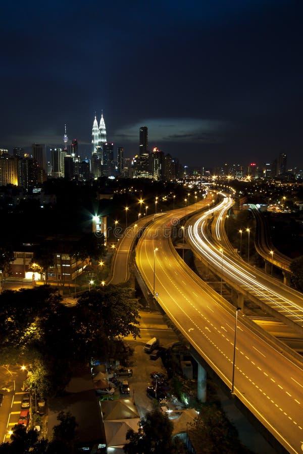 吉隆坡Nightscape 库存照片