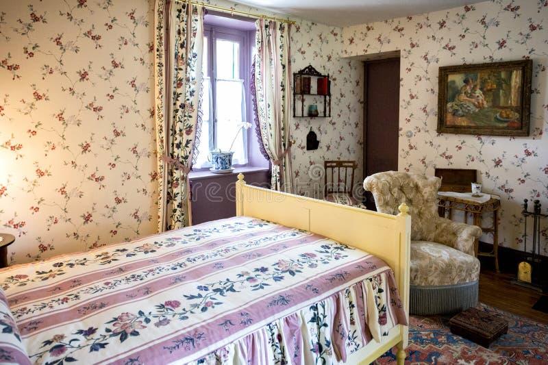 吉韦尔尼,法国–2018年8月3日:克洛德・莫奈的家内部在吉韦尔尼,诺曼底,法国 免版税图库摄影