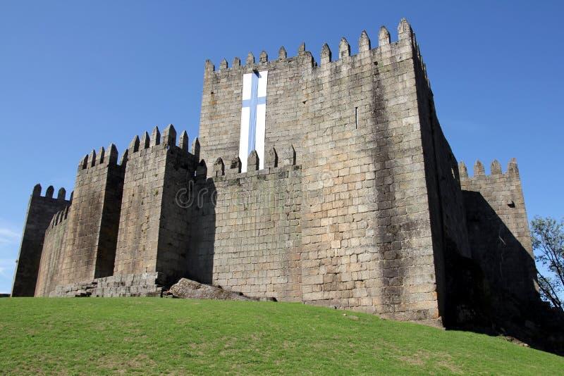 吉马朗伊什城堡在葡萄牙 图库摄影