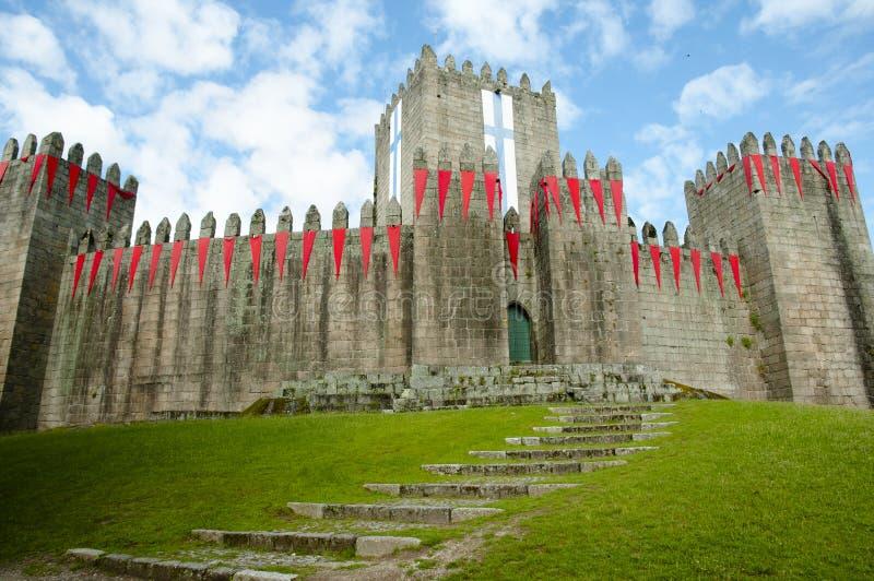吉马朗伊什城堡-葡萄牙 图库摄影