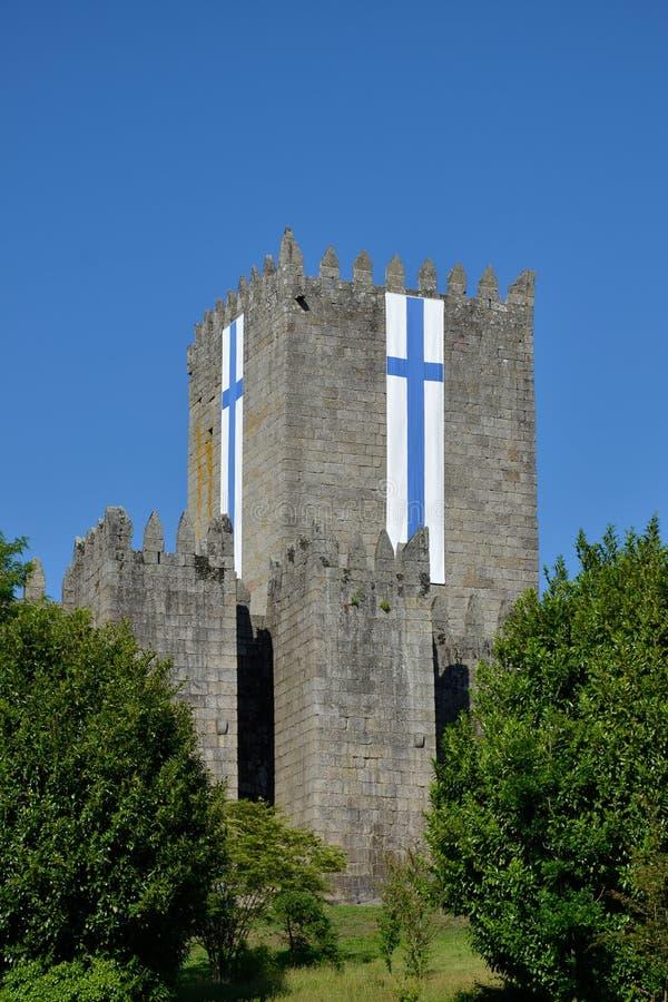吉马朗伊什,葡萄牙城堡  库存照片