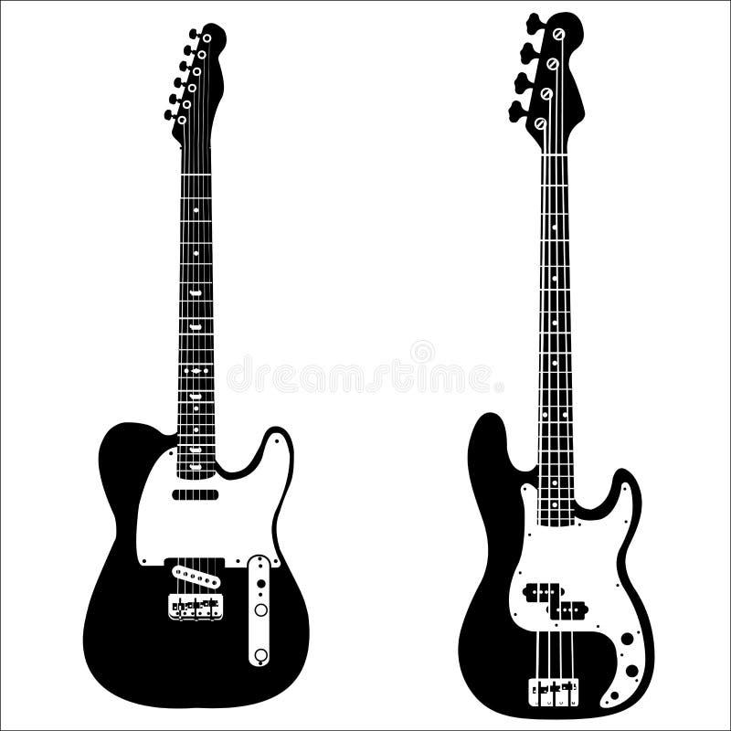 吉他例证查出的集合向量 向量例证