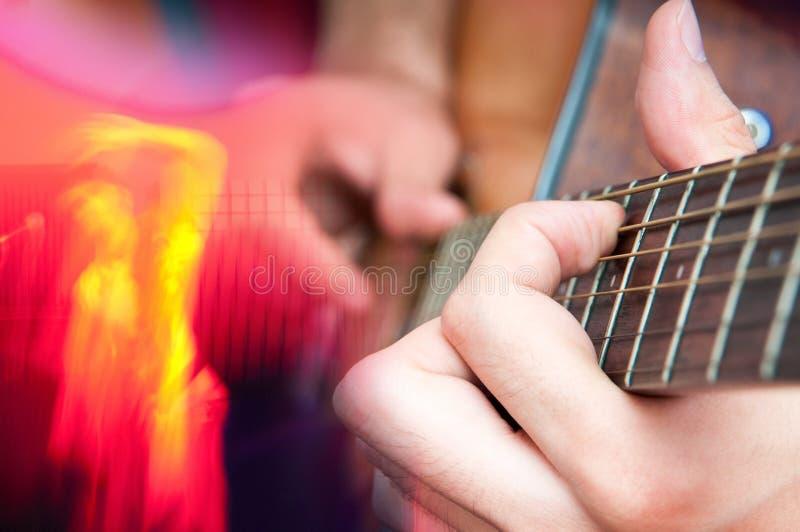 吉他和歌手幽灵 免版税库存图片