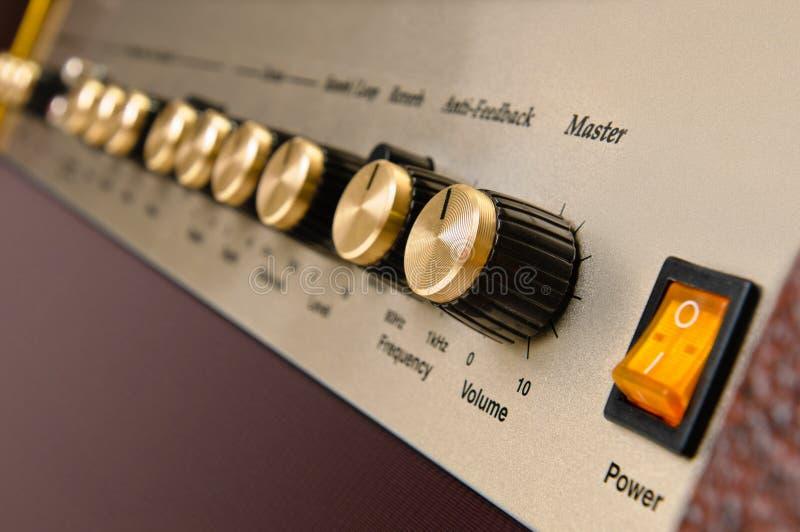 吉他放大器控制板 免版税图库摄影