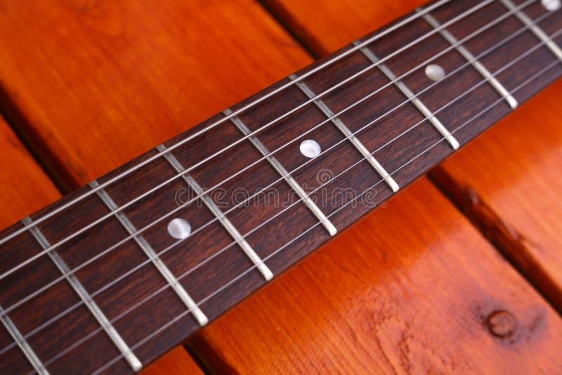 吉他特写镜头 免版税库存照片