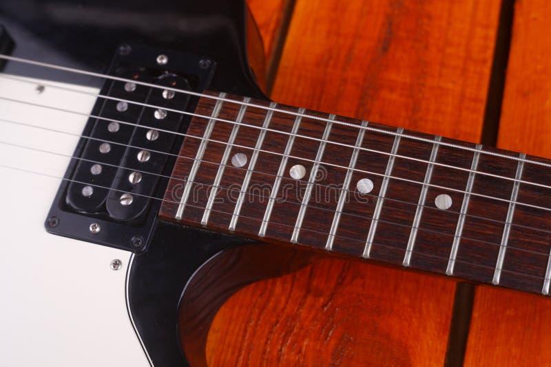 吉他特写镜头 库存图片
